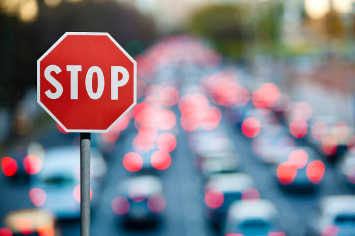 Stop Sign & Traffic