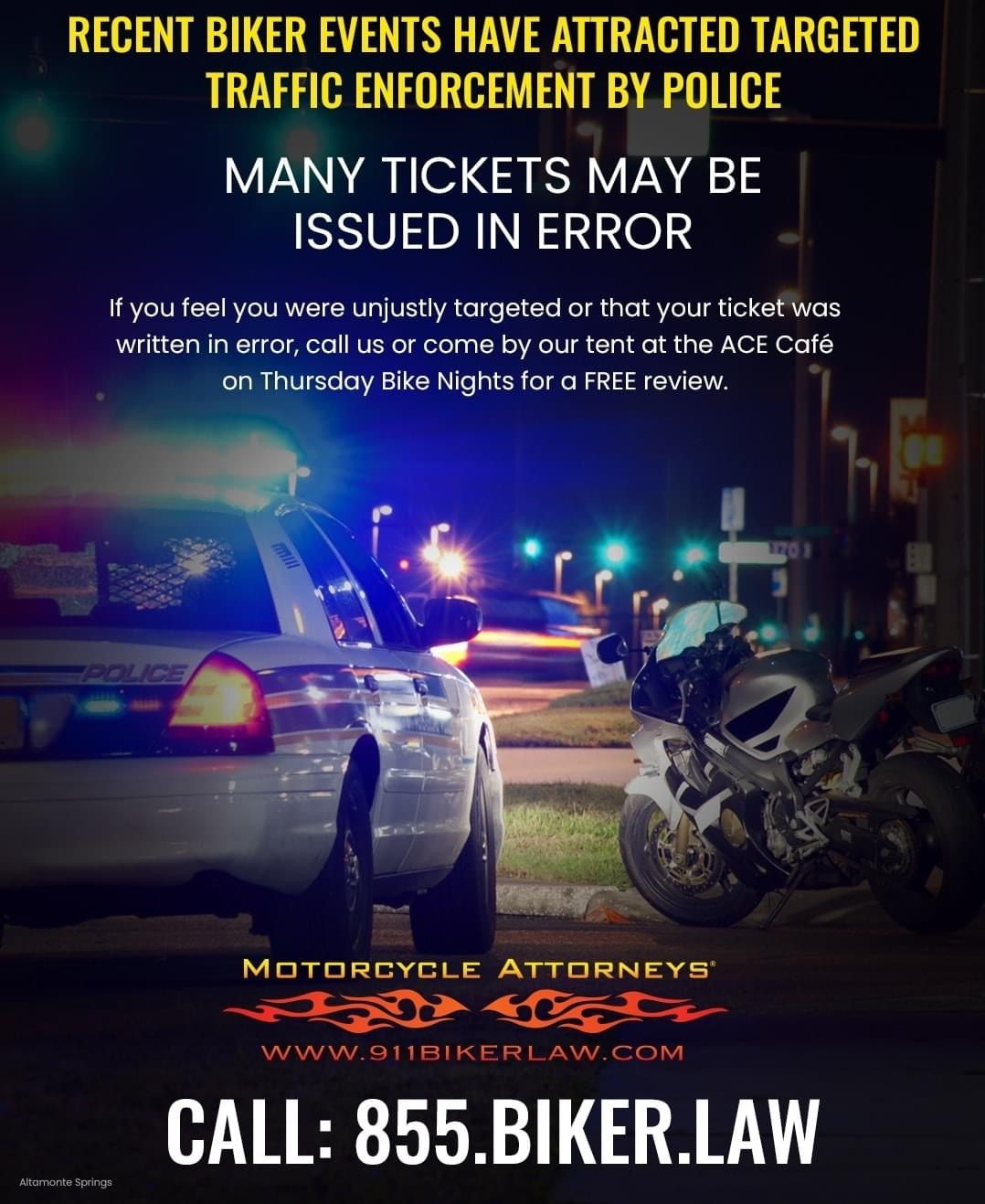 Picture for Stop By Ace Café  On Thursdays For Help With Motorcycle Tickets